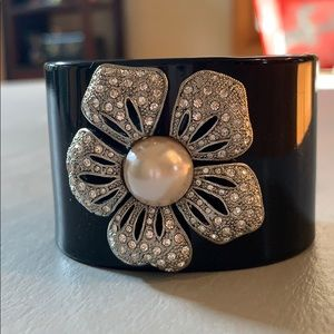 crystal & pearl flower cuff, Banana Republic